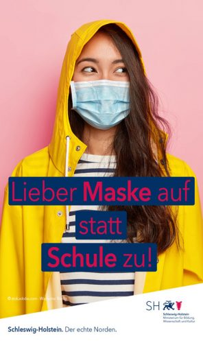 Maske auf statt Schule zu
