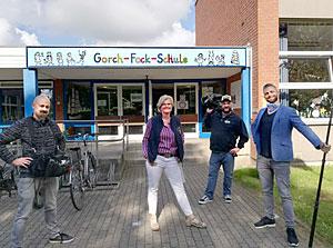 Besuch vom NDR zum Schulstart