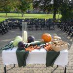 Altar der Erntedank-Feier in Ellenberg
