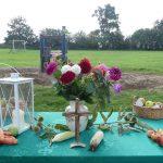 Altar der Erntedank-Feier in Habertwedt